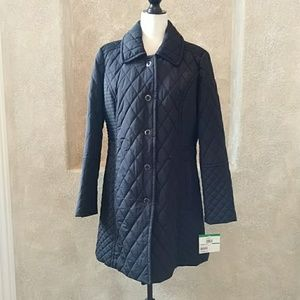 Anne Klein Quilted Coat Sz L NWT